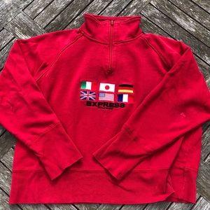 Vintage Express quarter zip sweatshirt